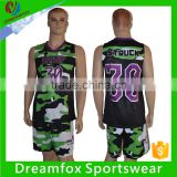 2016 latest best Sublimated reversible Custom Basketball Jersey design/Camo Cheap Basketball Uniforms blank wholesale                                                                         Quality Choice