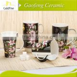 cup and saucer black