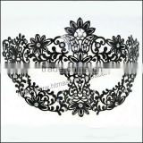 Sexy Womens Black Butterfly Animals Laser Cut Metal Venetian Masquerade Mask w/ Rhinestones Halloween Ball