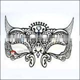 Bendable Laser Cut Hollow Out Black Prom Mask