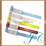 Different colors baby waterproof paper hospital id bracelets for sale