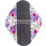 2016 Reusable Menstrual Pad Cloth Charcoal Bamboo Sanitary Pads Wholesale