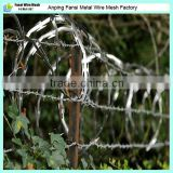 Hot dipped flat concertina razor wire barbed tape