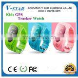 Kids waterproof cell phone watch with gps Wrist Watch GPS Tracker, gps cellphone wrist watch