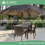 2016 new design classic modern leisure ways resin wicker outdoor rattan patio furniture dinning table set with chair