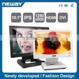10.1 inch 1280*800 IPS LCD conference monitor with full view angle folding bracket VESA 75mm Mount Holes