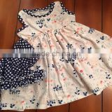 Floral printed infant sets fashion children clothes wholesale 100% cotton kids clothes set