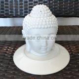 Buddha White Ceramic Candle Holder