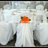 modern wedding chair cover with flower / banquet chair cover white / taffeta wedding chair cover