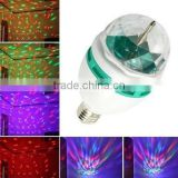 Fullbell rotating led strobe bulb multi changing color crystal party lights for sale