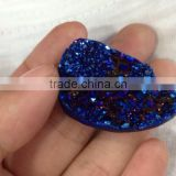 In stock!!! Blue color agate necklace drusy pendant Pear shape druzy pendant