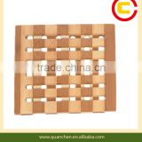 Promotion price bamboo heat resistant table pad made by bamboo board