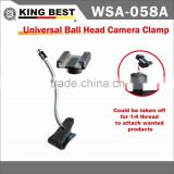"KINGBES TUniversal Ball Head / Clip Stand / 1/4 "" inch Screw Standard Ball Head Camera Flash /Clip Stand"