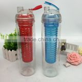Eastman Tritan translucent fruit infusion bottle 0.9 L new style leak proof bigger water bottle 100% BPA free