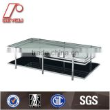 Glass Tea Table Design, Glass Top Center Table Design, Modern Design Glass Center Table CT-51