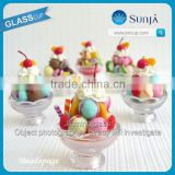 Glass ice cream cup