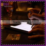Electronics led bill holder led check presenter leather led light bar display hotel bill presenter
