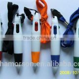 Promotional gift ballpoint pens with Lanyard students plastic ball pen School Hang rope ball pens/rope multicolor pen