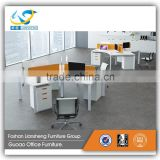 120 degree office desk top low partition workstation for 3 person LBGD-12