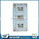 Resin Frame 3 Opening Wall Hanging Wooden Picture Frame,Shabby Chic MDF Decorative Photo Frame