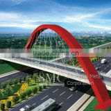 Steel Arch Bridge: Diagonal Span Arch Bridge of Hefei Xinqiao International Airport