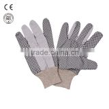 hand protection pvc dotted cotton work glove