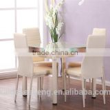 set furniture for square glass dining table with metal legs with 4 chairs for dining room used