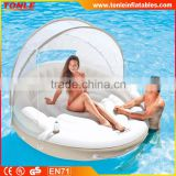 summer water toys Floating Canopy Island Inflatable Lounge