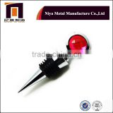 Hot sales metal bottle stopper with two side crystal, high quality wine stopper made by factory dierectly