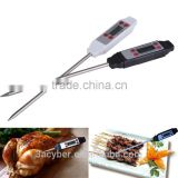 Digital Selectable Meat Kitchen Cooking Thermometer/BBQ Thermometer High Precision Stainless Steel Probe