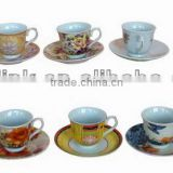 Super quality hotsell ceramic blue cup and saucer