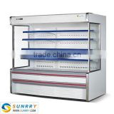 Used supermarket fruits vegetables display refrigerator and freezer case