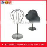 Light weight chrome plated metal hat display rack