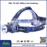 XQ58 1xCREE XML T6 LED 1800Lm Rechargeable led headlamps for hunting