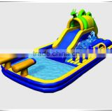 Professional supplier dragon inflatable floating water slide, used inflatable water slide for sale, inflatable slide with pool