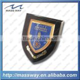 custom cllected shampion wooden shield plaque with award medal