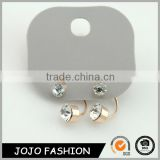 Gold brushed crystal earrings latest model fashion stud earrings                                                                                                         Supplier's Choice