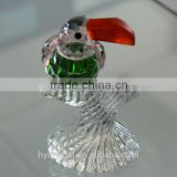 2016 wholesale clear antique crystal glass animal figurines
