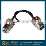 Good quality for N type female connectors bulkhead to N female pigtail cable RG174 cable coaxial