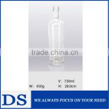 720ml wholesale clear empty champagne glass bottle with screw cap