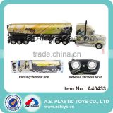 1:32 Scale 6CH oil tanker large plastic rc dump truck toy