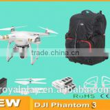 RC Drone DJI Phantom 3 with 4K Video 12 Magepixel Photo Camera and extra battery and backpack and everything you need
