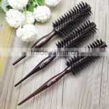 wholesale salon curl round wood wooden boar bristle nylon hair brush