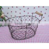 black bread bakery wire storage baskets