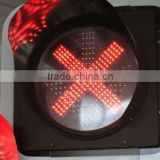 Solar LED Traffic Light System with red cross and green arrows