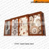 DT043 carpet sample display rack / carpet display rack stand like furniture/customized carpet rack