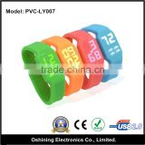 LED Watch Silicone Bracelet USB 2.0 Memory Stick Wristband Flash Pen Drive free smaple(PVC-LY007)