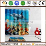180cm*180cm digital printed sea world shower curtain for children