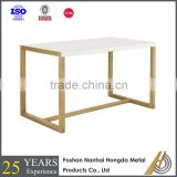 Modern white lacquer wooden dining table
