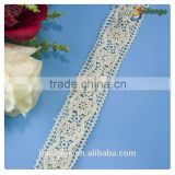 China manufacturer High quality Embroidered Chemical cotton embroidery lace trimming yarn for garment